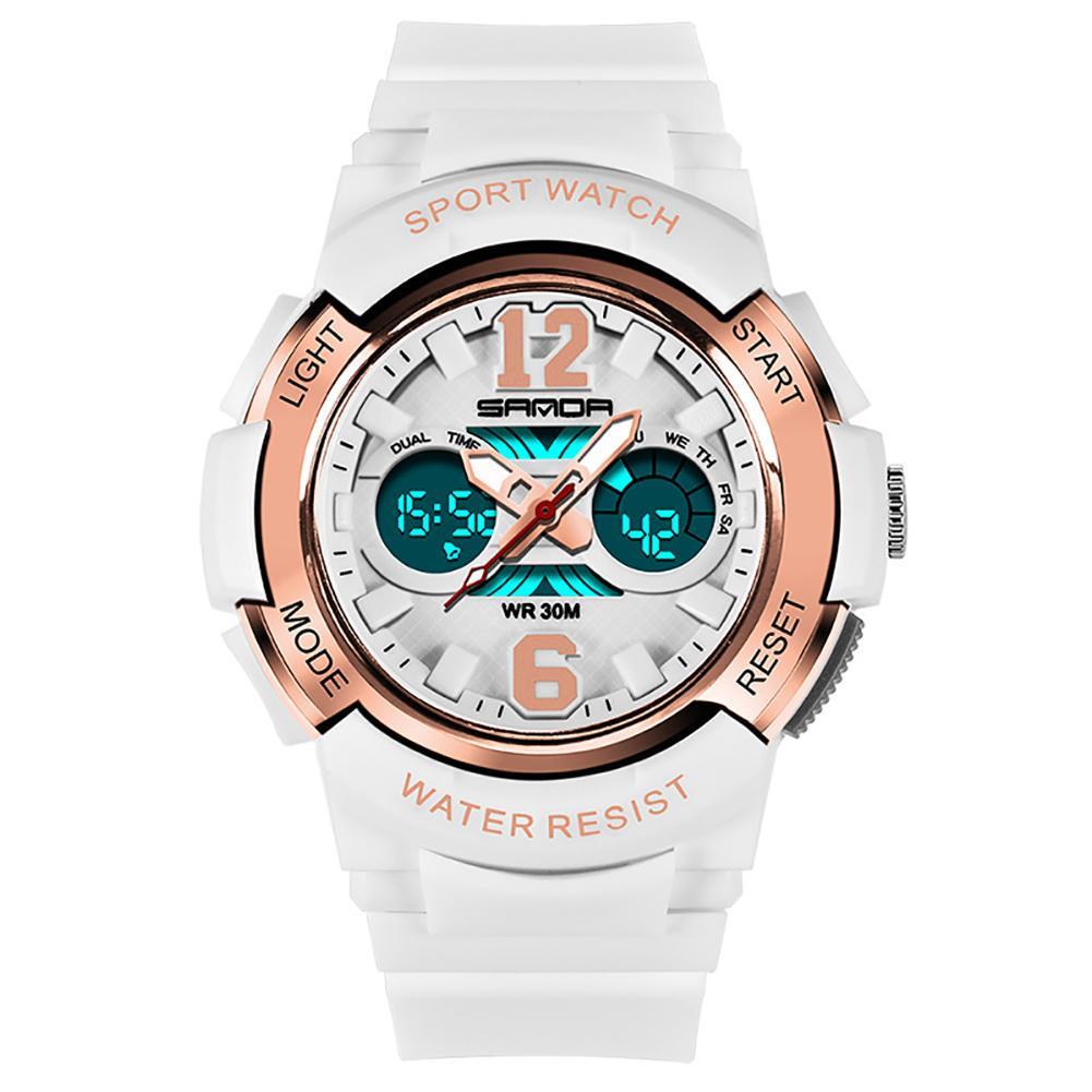 Fashion Kids Unisex Luminous Alarm Waterproof Digital Display Sports Electronics  Wrist Watch