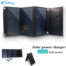 YFWพับแผงพลังงานแสงอาทิตย์ชาร์จ21วัตต์Dual USBพับธนาคารมือถือพลังงานแสงอาทิตย์ชาร์จพลังงานแสงอาทิตย์แบบพกพาสำหรับโทรศัพท์มือถือPower Banks