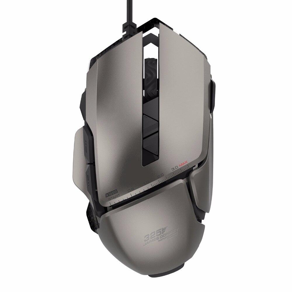 James Burro 325RS Cable USB Juego Láser Ratones Con 4 Ajustable 7200DPI 7 Botones Ratón De Juegos Para PC Portátil De Escritorio Souris Jugador