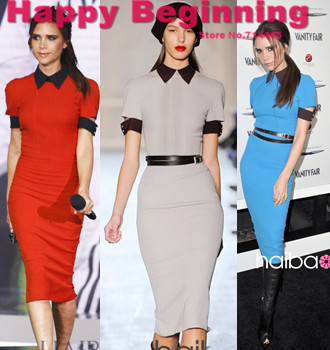 Hot 2017 Spring Summer Dresses New Fashion Victoria Beckham Style Knitted Cotton Pencil Dress Y Back Zipper S Xl D76 In From Women