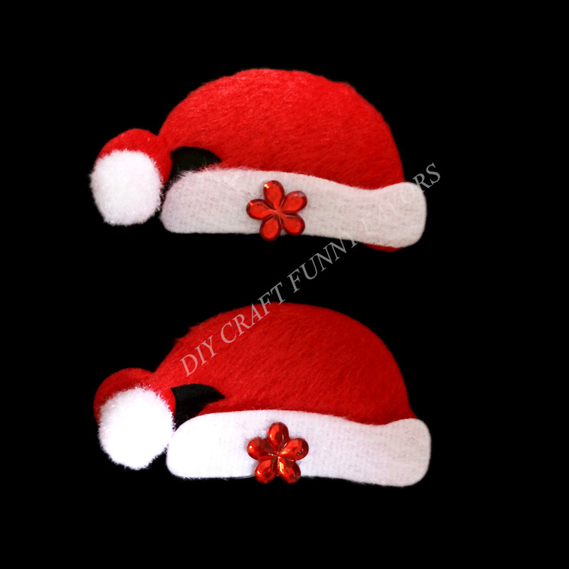 <20PCS/LOT>  Merry Christmas Ornament christmas hat applique accessory home decoration craft supply