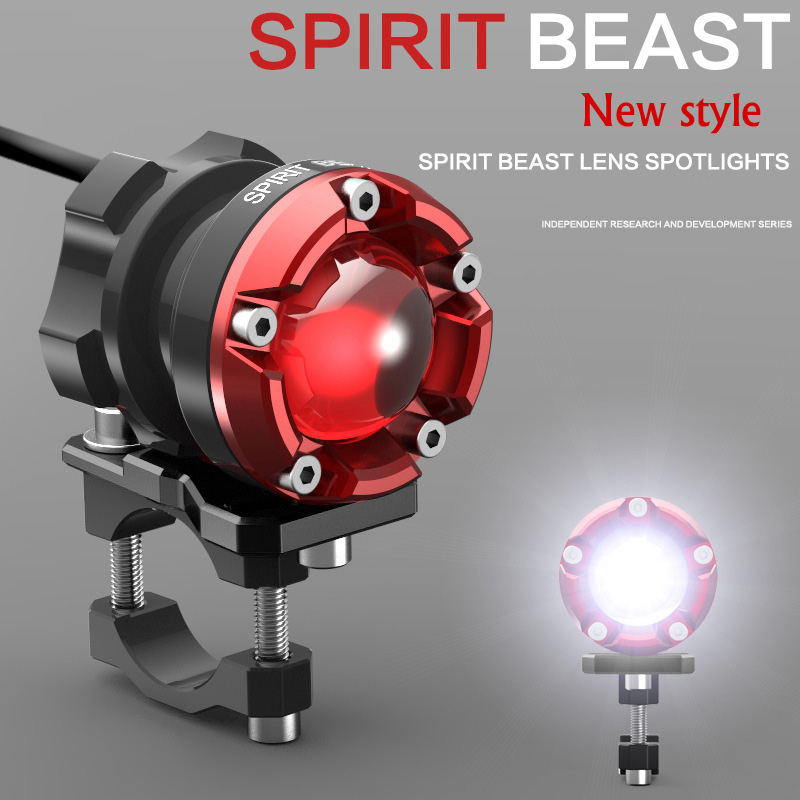 New style SPIRIT BEAST Motorcycle decorative lighting accessories headlight 48V headlamps LED Super bright auxiliary lights стоимость