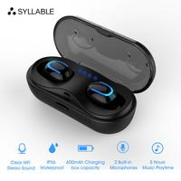 Original SYLLABLE HBQ Q13S TWS Bluetooth V5.0 Stereo Sports 5 hours Earphones True Wireless Stereo SYLLABLE HBQ Q13S TWS 600mah