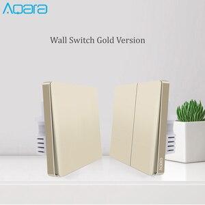 Image 2 - 2019 yeni yükseltme orijinal Aqara duvar anahtarı akıllı işık ZigBee anahtarları uzaktan kumanda altın versiyonu için apple homekit