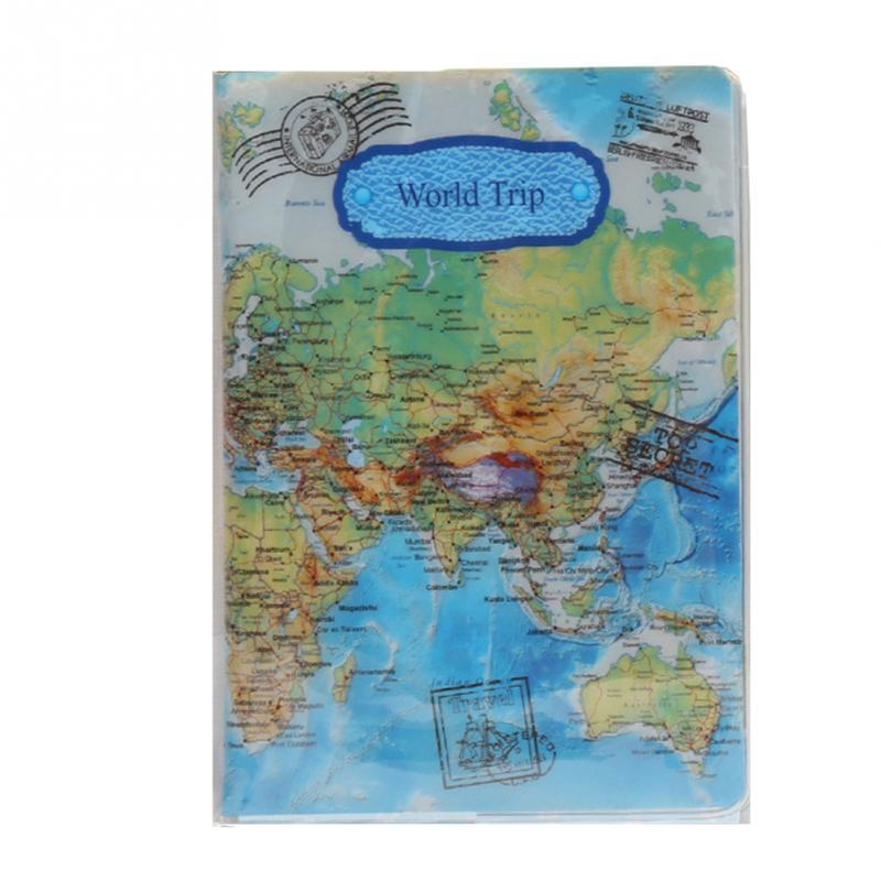 New Hot Sale World Map Travel Passport Cover PVC Holder Travel Passport Cover Case Brand Passport Holder Documents Folder Bag стоимость