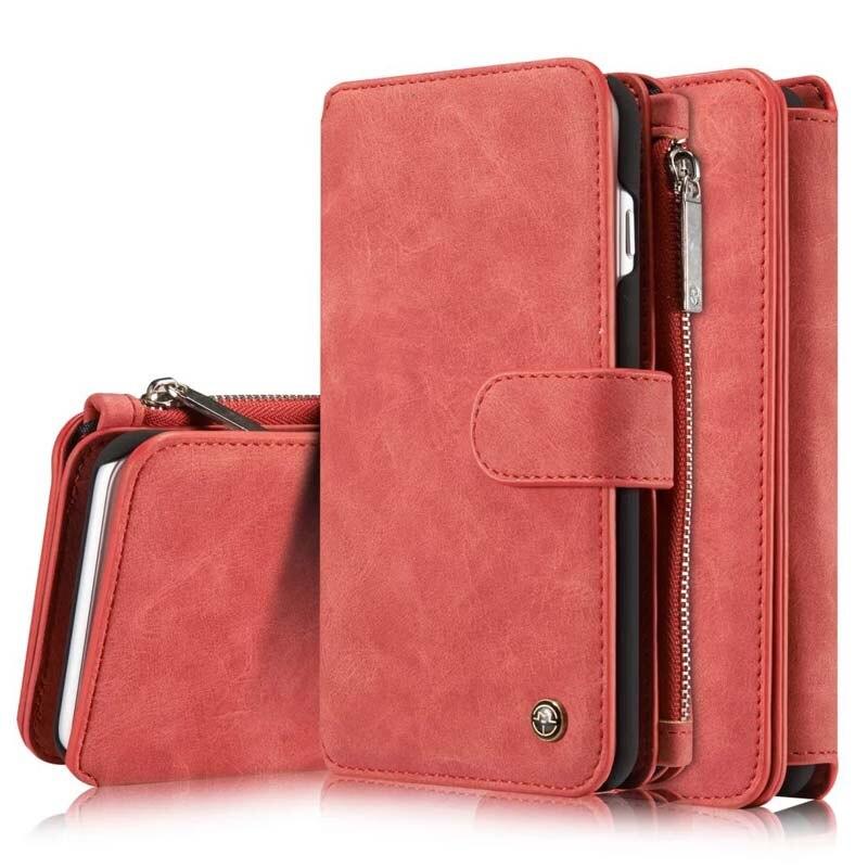 bilder für Handytasche Für iphone 7 plus Fall Luxus Ursprüngliche Echte Ledertasche Reißverschluss Geldbörse kartenhalter Multifunktions JS0070