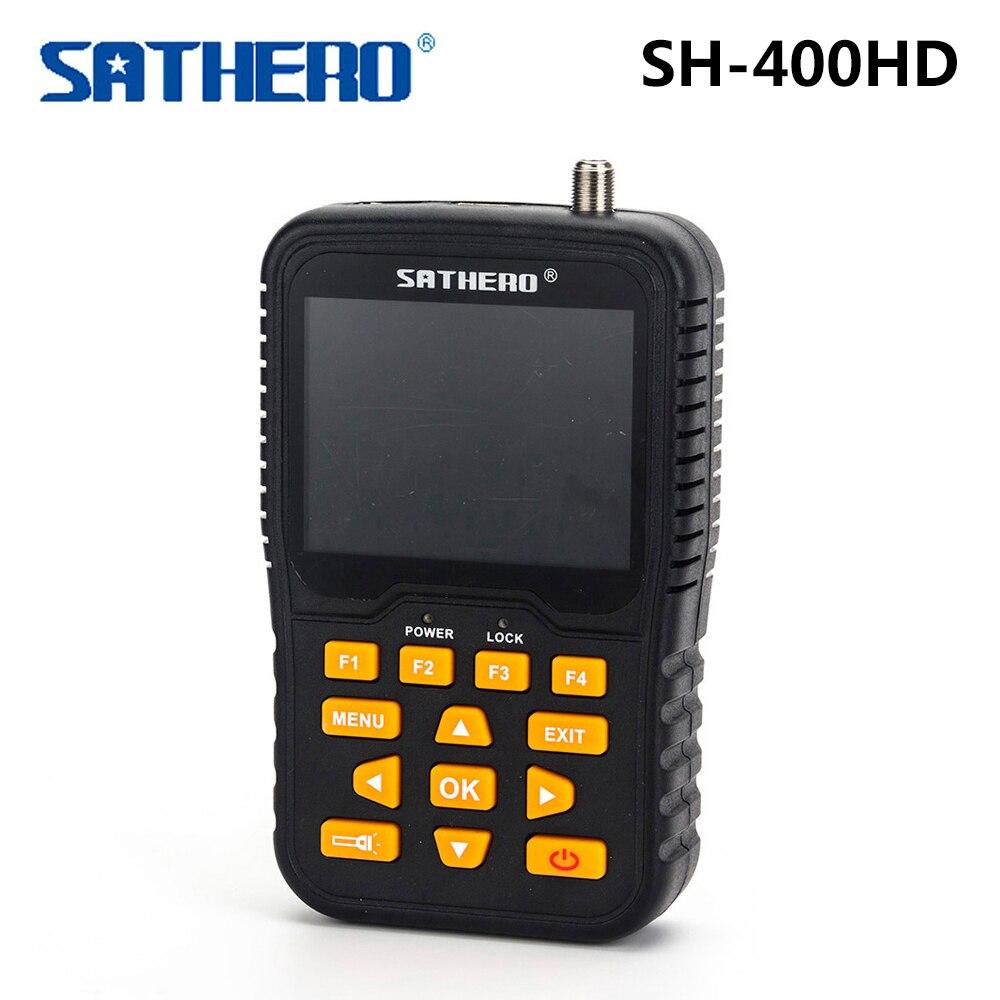 SH-400HD 3.5 inch LCD Screen DVB-S2 & DVB-S Signal Finder Support 8PSK 16APSK Digital Meter Sathero 400HD original dvb t satlink ws 6990 terrestrial finder 1 route dvb t modulator av hdmi ws 6990 satlink 6990 digital meter finder