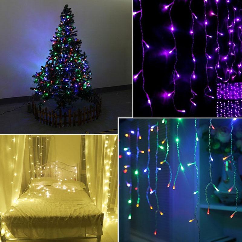 1 Pack RGB 10 M 100 Led  110 V / 220 V Christmas Lighting / Wedding / Party / Festival DecorationLED Strip Light Waterproof