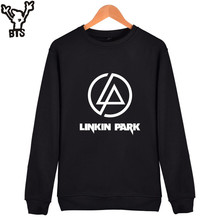 BTS Linkin Park Mens Hoodies And Sweatshirt Popular Rock Band Singer Fans Hoodies Men Sweatshirt Casual USA Great Singer Clothes(China)