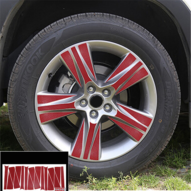 Wheel Center Hub Sticker Carbon Fiber Sticker For Toyota Highlander 2015 4Pcs Per Set