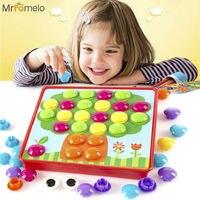 MrPomelo Puzzles Spielzeug für Kinder Kleine Hände Taste Kunst Vorschule Aktivität für Kinder Zusammengesetztes Bild Puzzle Kreative Mosaik