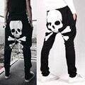 Мужчины Шаровары Череп Брюки Случайные Свободные карманный дизайн гарем штаны хип-хоп гарем брюки для человека