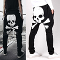 Men Harem Skull Pants Casual Loose pocket design harem sweatpants hip hop harem pants for man