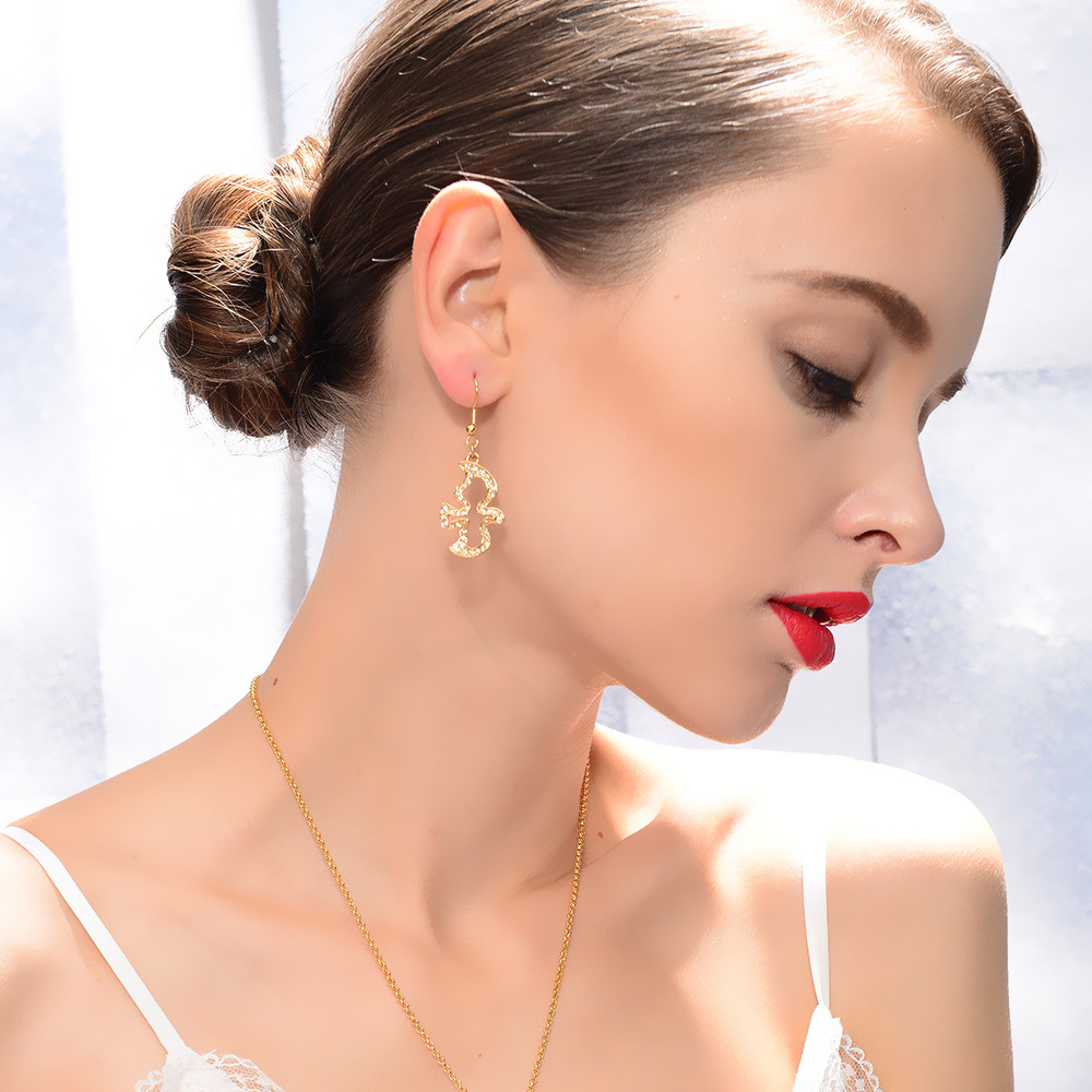 on and earrings image woman photo shopping stock diamond caucasian trying jewelry lady beauty putting