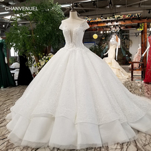 Robe de mariage avec dentelle longue tra ...