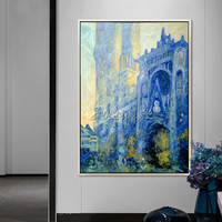 Monet Church canvas Oil painting famous church reproduction of Monet Wall art wall Pictures for Living room home decoration 001