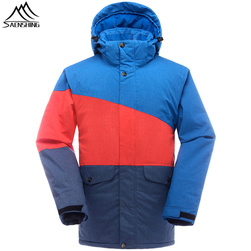 SAENSHING Winter Ski Jacket Men Snowboard Coats Waterproof Thermal Snowboard Jackets Outdoor Ski Skiing and Snowboarding Wear