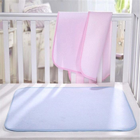 L Size 110 70cm Baby Waterproof Sheet Protector Mattress Bamboo Fiber Changing Pads Bed Wetting Topper