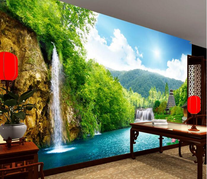Buy 3d wallpaper custom mural non woven for Custom mural wallpaper