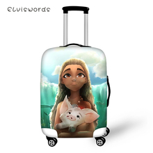 ELVISWORDS Protective Suitcase Cover Elastic Dustproof Luggage Monana Girls Prints Pattern Waterproof Accessories
