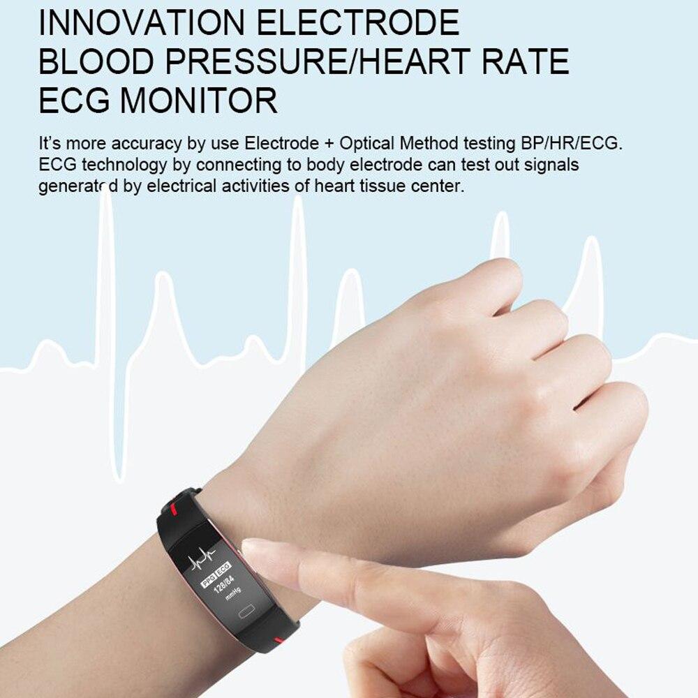 Hangrui P3 Heart Rate Tracker PPG ECG Smart Bracelet Blood Pressure Fitness Tracker Wristband Waterproof Sport Watch Wrist band (2)