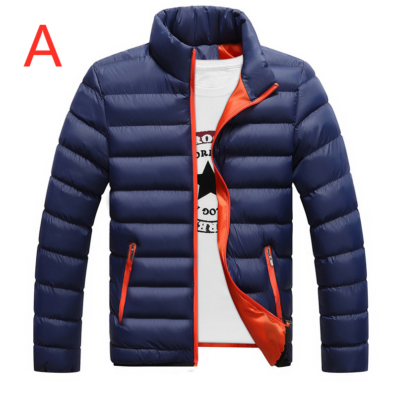 A 2019 Men's Casual Feather Jacket Ultra Light   Down   Jackets Men Casual Winter   Down   Duck Windbreaker Man Stand Collar   Down     Coats