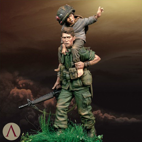 1/24 Rescue from Hell Military war theme soldier Resin Figure GK Uncoated No colour