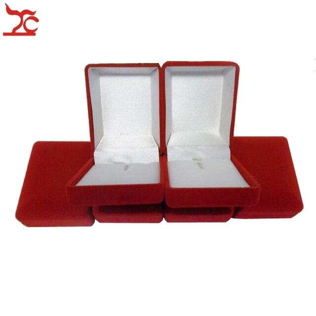 High Grade 6Pcs Red Velvet Jewelry Gift Box Pendant Storage