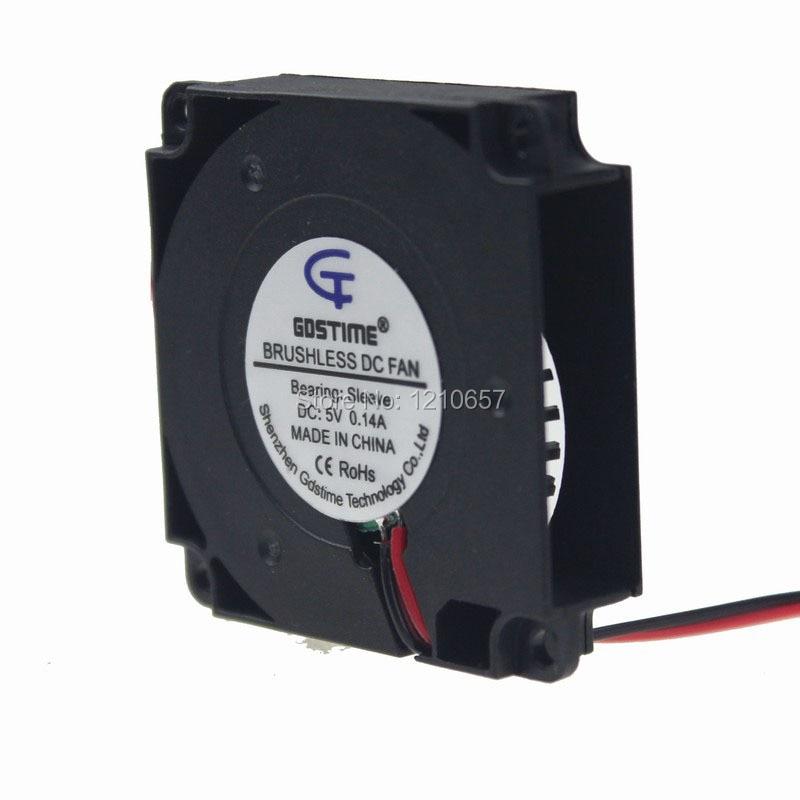все цены на  5PCS lot Gdstime Blower Fan 4cm 40mm x 10mm 5V 2Pin Brushless DC Centrifugal Cooling fan  онлайн