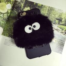 Totoro Black Briquettes Case Cover for iPhone