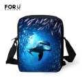 Unique Children Student School Bag Cool Animal Dolphin Shark Printing Schoolbag Casual Women Girls Bookbag Mochila Kids