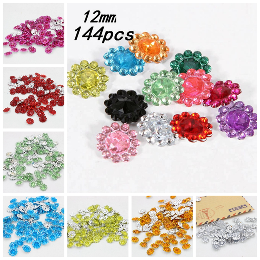 Brilliant 12mm Sunflower Design Acrylic Rhinestones Clear Acrylic Rrhinestones Stone Facets Point Rhinestones Decoration Diy Crafts Sale Price Beads Beads & Jewelry Making