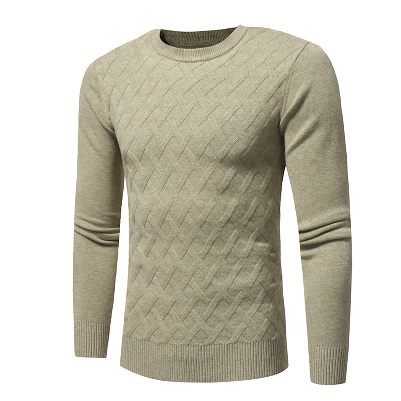 Fashion Slim Fit Men Clothing Autumn Winter Long Sleeve Sweater Solid Pullover Mens Knitted Sweaters High Quality Man Tops W378