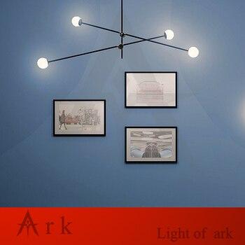 American Minimalism Geometric Lines Pendant Chandelier Creative Artist E27 Black Gold Dining Room Foyer Chandelier Lighting