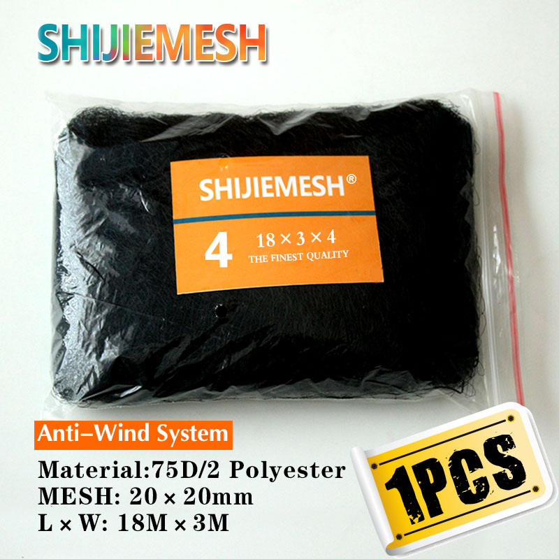 High Quality Deep Pockets 18M X 3M 20mm Mist Net Bird Net 75D/2 Garden Netting Anti Bird Mist Net 1pcs