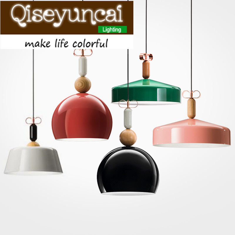 Qiseyuncai Nordic post-modern minimalist E27 aluminum chandelier originality wood art decorative lamps vintage clothing store personalized art chandelier chandelier edison the heavenly maids scatter blossoms tiny cages