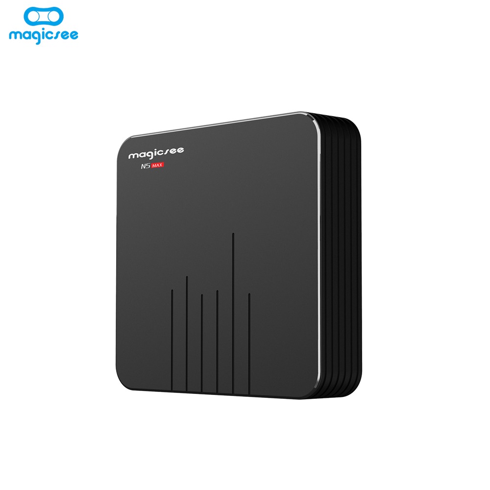 Magicsee N5 Max Amlogic S905X2 Android 9.0 TV BOX 4G 32G/64G Rom 2.4 + 5G double Wifi bluetooth 4.1 Smart Box 4K LAN 1000 décodeur - 5