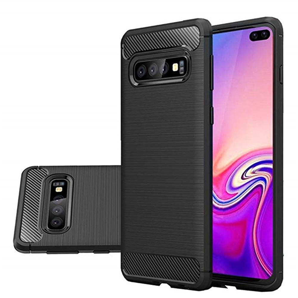 For Samsung Galaxy S10 Plus 6.4Inch Phone Case Silicone Hybrid Case Soft TPU Four Corners Cover Protective Case P3