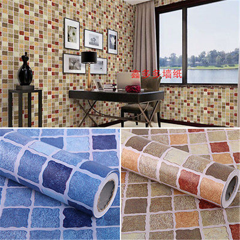Europe Self Adhesive Mosaic Waterproof 3d Wallpaper Sticker Tile Vinyl Kitchen Bathroom Home