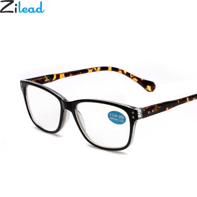 aa59cf2cd3 Zilead Retro Anti Blue-ray Leopard Reading Glasses Women Men Resin Big  Frame Anti fatigue Presbyopic