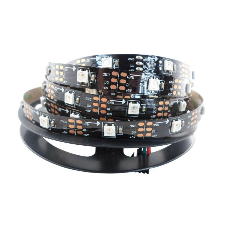 5mX Yüksək keyfiyyətli WS2812B rəqəmsal ünvanlı 5050 RGB LED - LED işıqlandırma - Fotoqrafiya 3