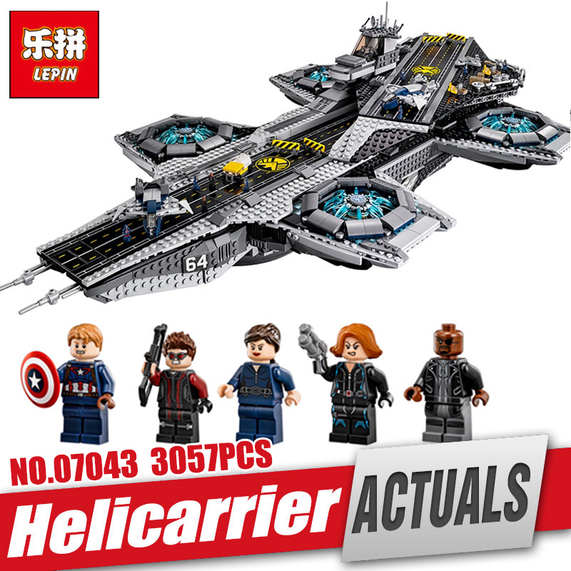 DHL Lepin 07043 Super Heroes The Shield Helicarrier Model Educational Building Kits Blocks Bricks Toys Compatible legoing 76042 dhl free shipping lepin 16002 pirate ship metal beard s sea cow model building kits blocks bricks toys compatible legoed 70810