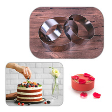 Round mousse mold cake ring,DIY fondant baking molds accessories for confectionery fondant cutter cake decorating tools e3cm 8 in 1 cake cutter ring mold silver