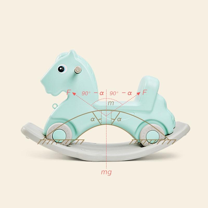 Bébé cheval brillant jouet bébé cheval à bascule en plastique L 1-6 ans équitation voiture enfants cheval à bascule jouet bébé chambre jouets éducatifs - 5