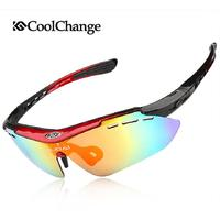 COOLCHANGE Men S CYCLING GLASSES 5 LENSES POLARIZED SUNGLASSES Sport Eyewear UV400 Colored Lenses Frame Googles