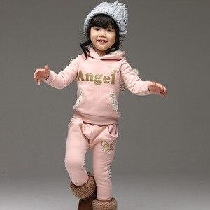 Image 5 - V TREE crianças conjunto de roupas de lã terno esportivo para o menino inverno ternos da criança para meninas asas crianças agasalho traje da escola do bebê