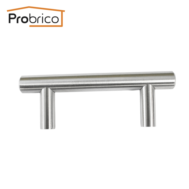 Probrico 10 PCS Solid Stainless Steel Kitchen Cabinet T Bar Handle PD201SSS64 CC 64mm Furniture Knob USA Domestic Delivery