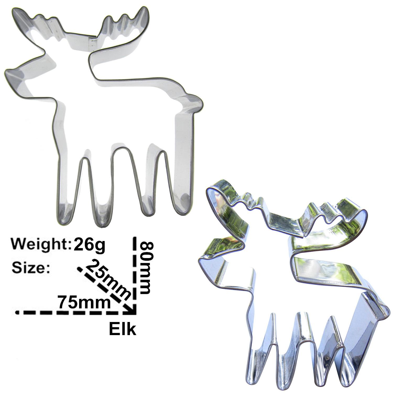 Elk Sika Deer және Christmas Deer Shape Cake Decorating Tools - Тағамдар, тамақтану және бар - фото 4