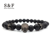 Skull Bracelet Elastic Bracelets & Bangle For Women Pulseira Masculina Beads Men jewelry Feminina Erkek Bileklik Pulseira 2017