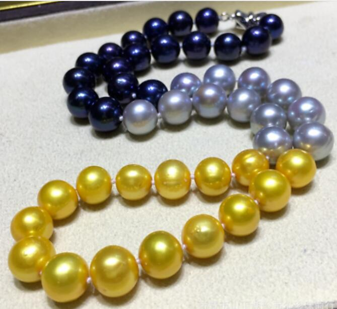 Charming 10-11mm natural Multi-Color pearl necklace 50 Charming 10-11mm natural Multi-Color pearl necklace 50